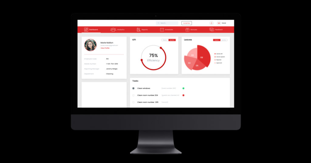MaxiE is AI powered staff management system